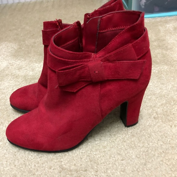 36141451cdd33 impo Shoes | Red Booties | Poshmark